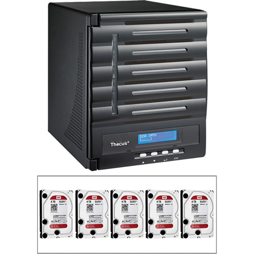 Thecus 20TB (5 x 4TB) N5550 5 Bay Enterprise Tower NAS Server Kit with Hard Drives