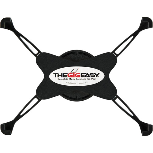 TheGigEasy Mic Stand Mount for iPad 2/3/4 (Black Arms, Black Body)