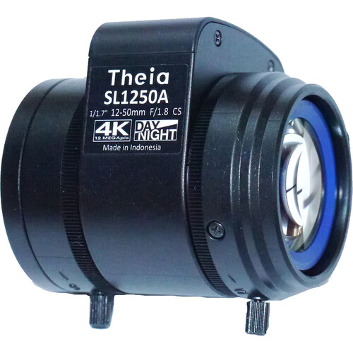 Theia Technologies SL1250A 12-50mm CS-Mount 4K Telephoto DC Auto-Iris Varifocal Lens
