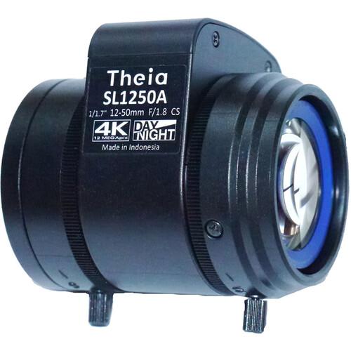 Theia Technologies SL1250P 12-50mm CS-Mount 4K Telephoto P-Iris Varifocal Lens