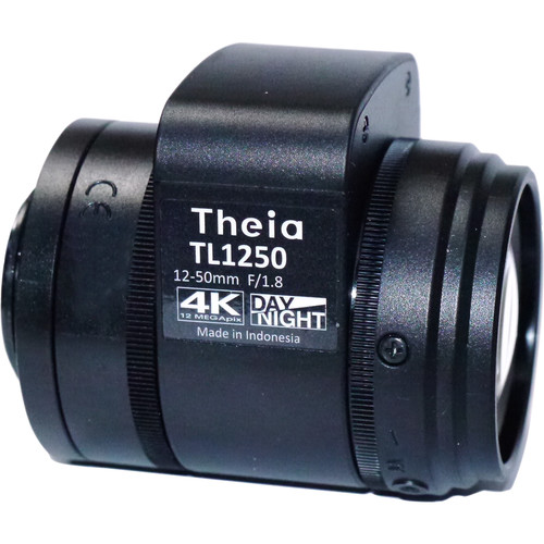 Theia Technologies CS-Mount 12-50mm f/1.8-Close 4K IR-Corrected Motorized Auto-Iris Varifocal Lens with Zoom/Focus Limit Switch