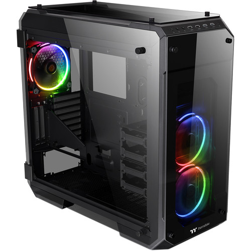 Thermaltake View 71 Tempered Glass Edition Full-Tower Case (Black, RGB LEDs)