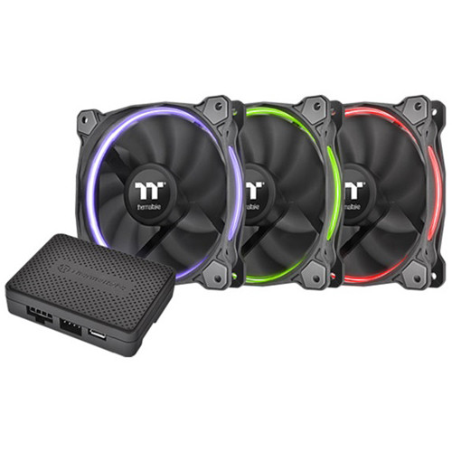 Thermaltake Riing 12 RGB TT Multi-Colored LED 120mm Case Fans (Premium Edition, 3-Pack)