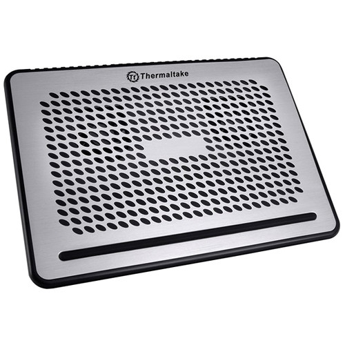 Thermaltake CLN0029 Allways Simple Laptop Cooling Pad with Dual 60mm Fans (Silver)
