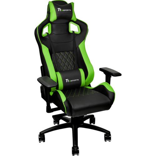 Thermaltake Tt eSports GT Fit F100 Gaming Chair (Green & Black)