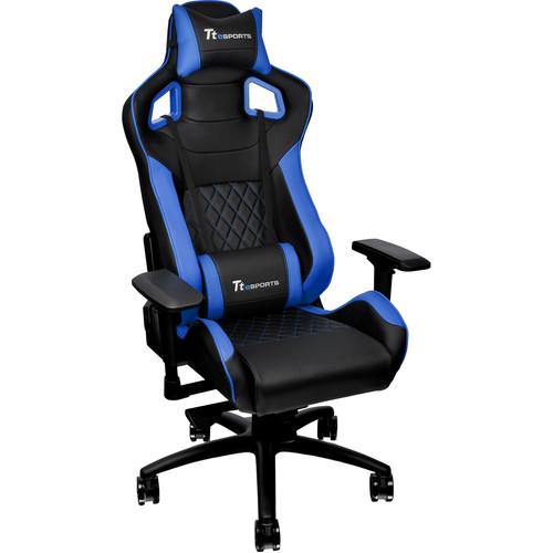 Thermaltake Tt eSports GT Fit F100 Gaming Chair (Blue & Black)