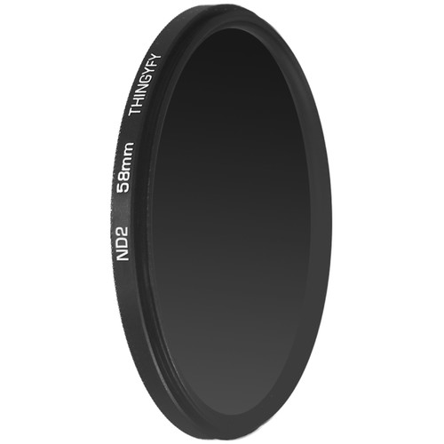 Thingyfy 58mm Solid Neutral Density 0.6 Filter (2-Stop)