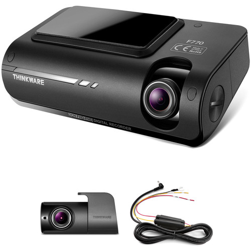 Thinkware F770 Wi-Fi Dash Cam with Rear View Camera & Hardwire Cable Kit
