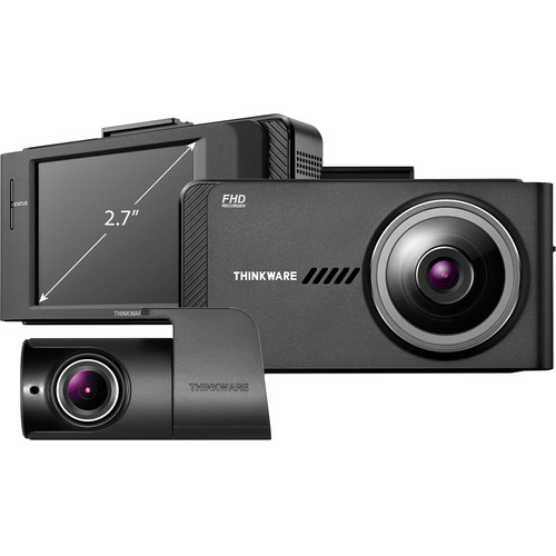 Thinkware X700 1080p Dash Cam with 16GB microSD Card, Rear-View Camera & External GPS Receiver Bundle