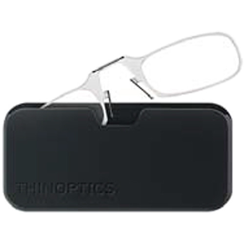 ThinOPTICS Smartphone +2.50 Reading Glasses with Universal Pod (Crystal Clear)