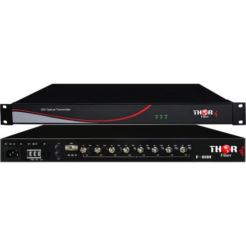 Thor 8-Channel SD/HD 3G-SDI over Single Fiber CWDM Uncompressed Extender Set
