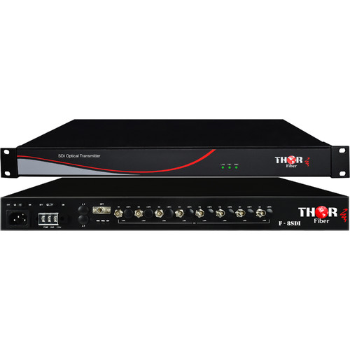 Thor 8-Channel SD/HD 3G-SDI over Single Fiber CWDM Uncompressed Extender Set