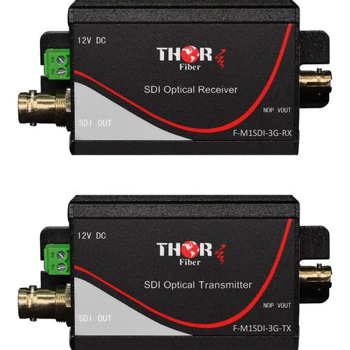 Thor 1-Channel SD/HD 3G-SDI over Fiber Extender Set