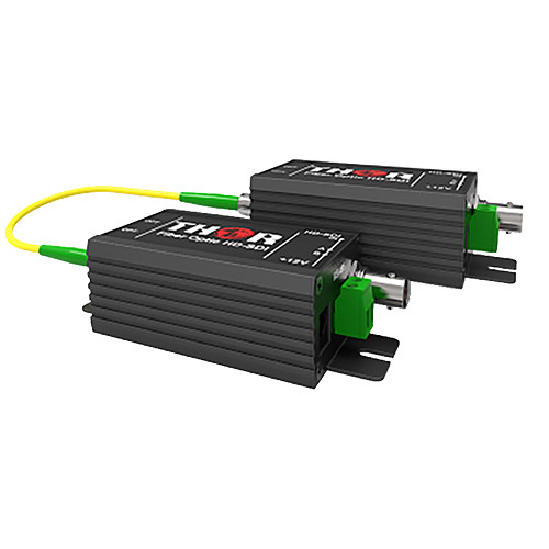 Thor 1-Channel Mini HD-SDI Single-Mode Fiber Optic Extender Kit (12.4 Miles)