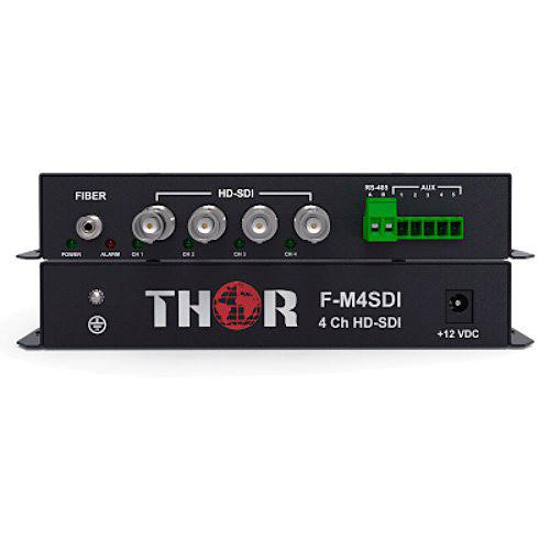 Thor 4-Channel HD-SDI Extender Kit over ST Singlemode Fiber (12.4 Miles)