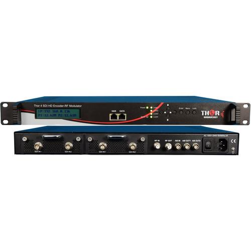 Thor SDI to QAM Modulator and IPTV Streaming Encoder (4-Input)