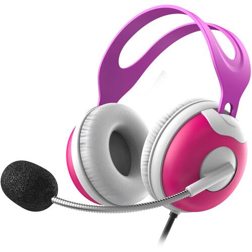 Thore KH910 Kids Headphones with Boom Mic (Pink)