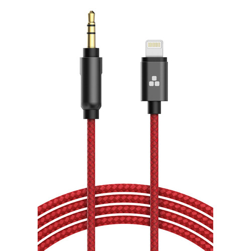 Thore 3.5mm Audio to Lightning Connector Aux Cable (4', Red)