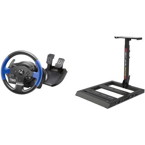 Thrustmaster T150 Force Feedback Racing Wheel & Next Level Racing Wheel Stand Racer Kit