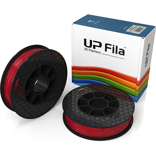 Tiertime UP Fila ABS Filaments (Red, 2 x 500g Rolls)