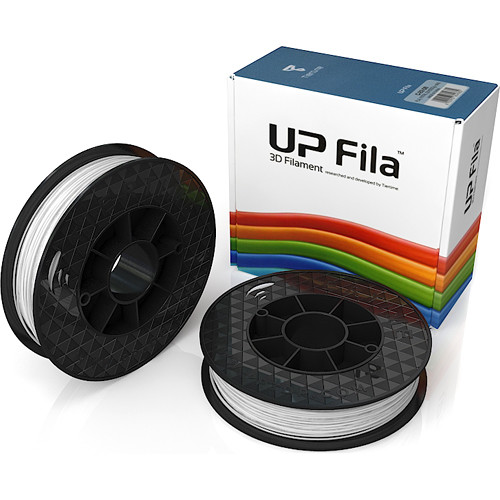 Tiertime UP Fila PLA Filaments (White, 2 x 500g Rolls)