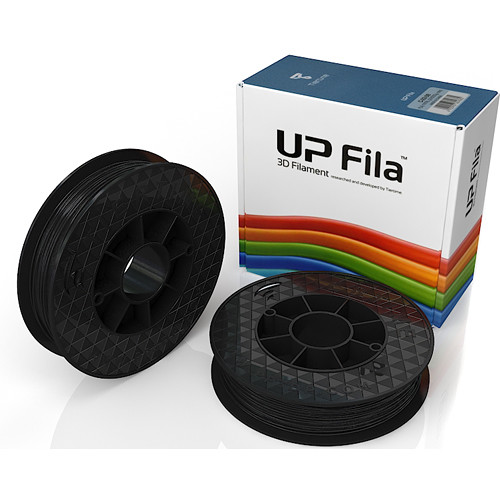 Tiertime UP Fila PLA Filaments (Black, 2 x 500g Rolls)