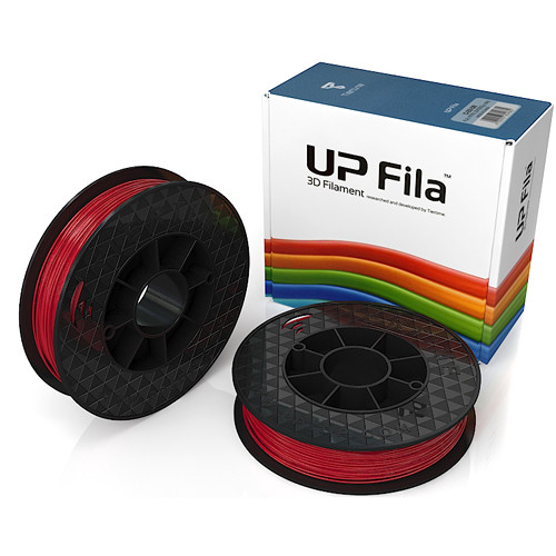 Tiertime PLA Filament Rolls (2X 500g, Red)