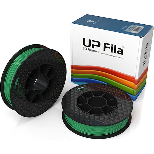 Tiertime UP Fila PLA Filaments (Green, 2 x 500g Rolls)