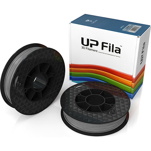 Tiertime UP Fila PLA Filaments (Gray, 2 x 500g Rolls)