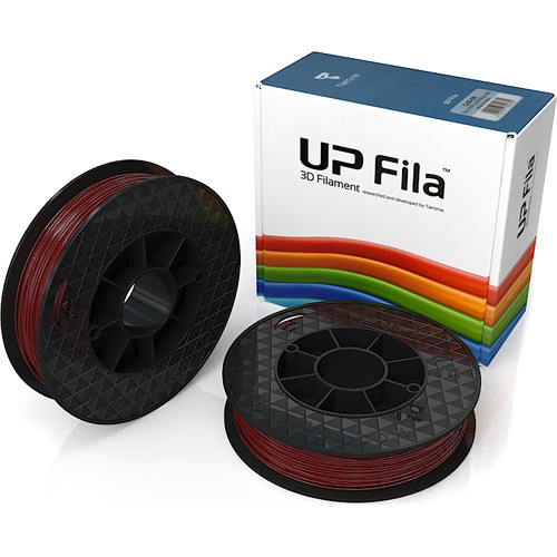 Tiertime UP Fila PLA Filaments (Burgundy Red, 2 x 500g Rolls)