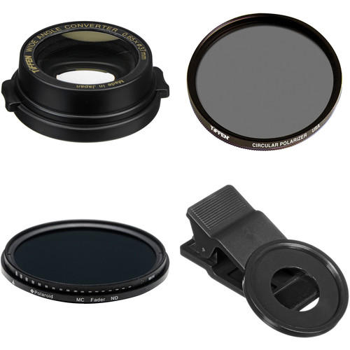 Tiffen 37mm 0.65x Wide-Angle Conversion Smartphone Lens Kit