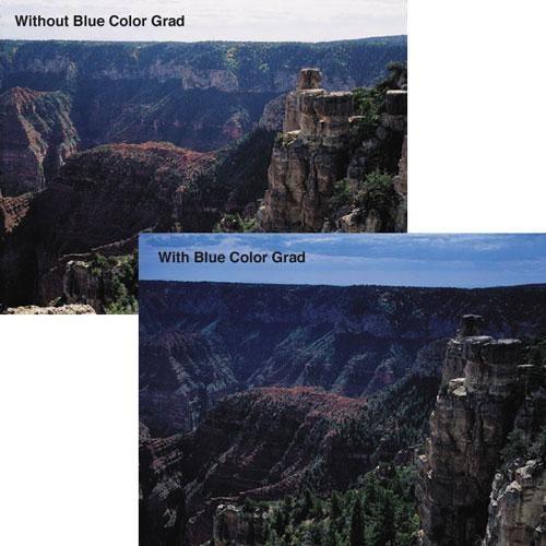"""Tiffen 5.65 x 5.65"""" Blue 4 Hard Edge Graduated Filter"""