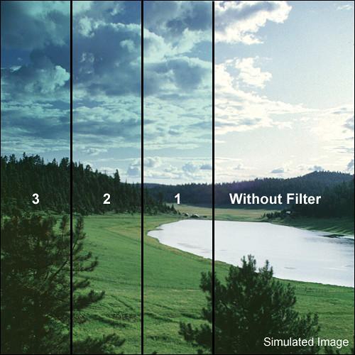 "Tiffen 5.65 x 5.65"" 3 Tropic Blue Hard-Edge Graduated Filter"