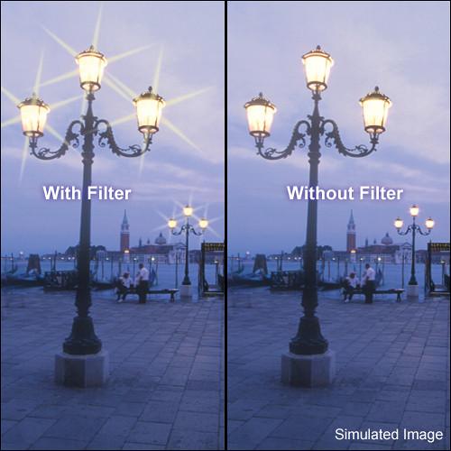 "Tiffen 5.65 x 5.65"" 6 Point / 4mm Grid Star Effect Glass Filter"