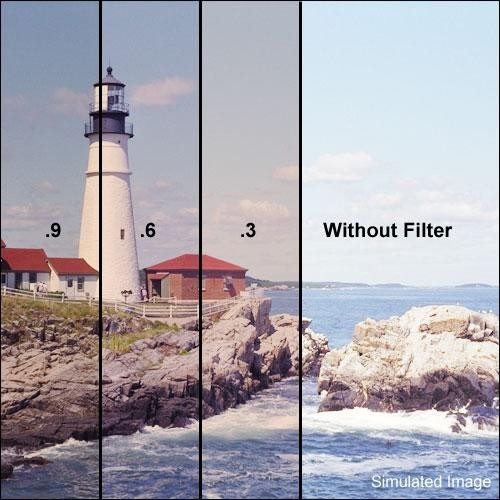 """Tiffen 5.65 x 5.65"""" Combination 81EF/ND 0.9 Filter (3-Stop)"""