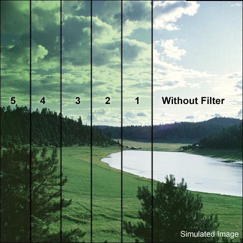 """Tiffen 5.65 x 5.65"""" 1 Green Soft-Edge Graduated Filter"""