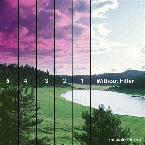 "Tiffen 5.65 x 5.65"" 1 Magenta Soft-Edge Graduated Filter"