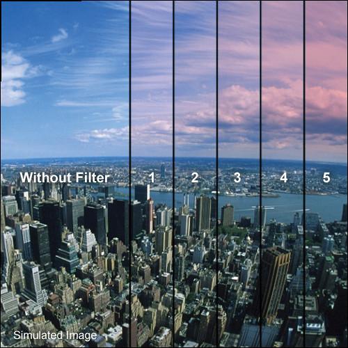 """Tiffen 5.65 x 5.65"""" 5 Pink Hard-Edge Graduated Filter"""
