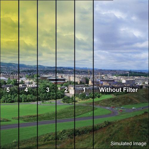 "Tiffen 5.65 x 5.65"" 5 Yellow Hard-Edge Graduated Filter"
