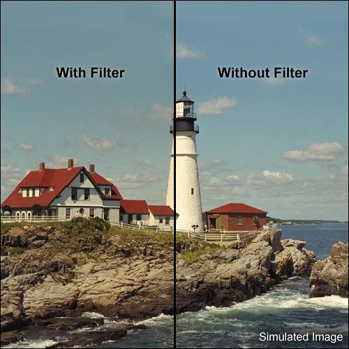 "Tiffen 5.65 x 5.65"" 1 Coral Solid Color Filter"