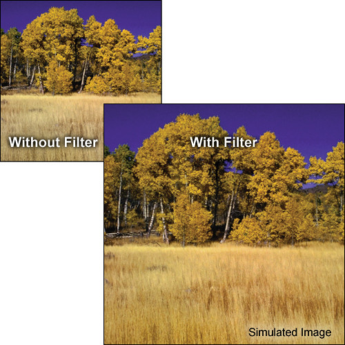 "Tiffen 5.65 x 5.65"" Complement Amber 2 Filter"