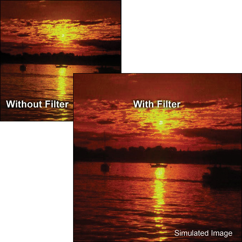 "Tiffen 5.65 x 5.65"" Complement Red 1 Filter"