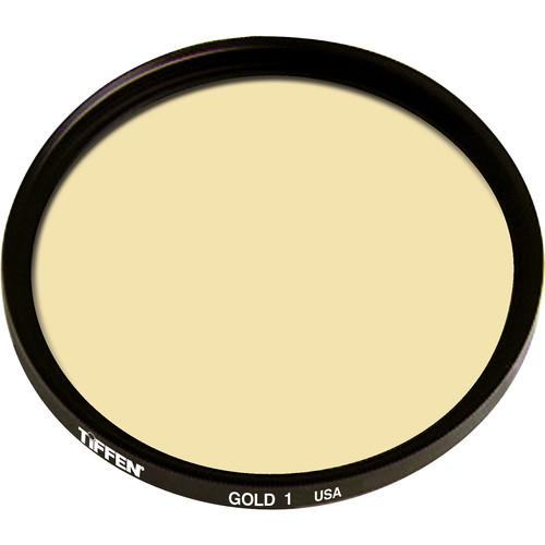 """Tiffen 5.65 x 5.65"""" 1 Gold Solid Color Filter"""