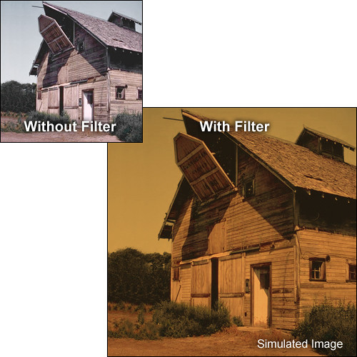 "Tiffen 5.65 x 5.65"" 3 Sepia Solid Color Filter"