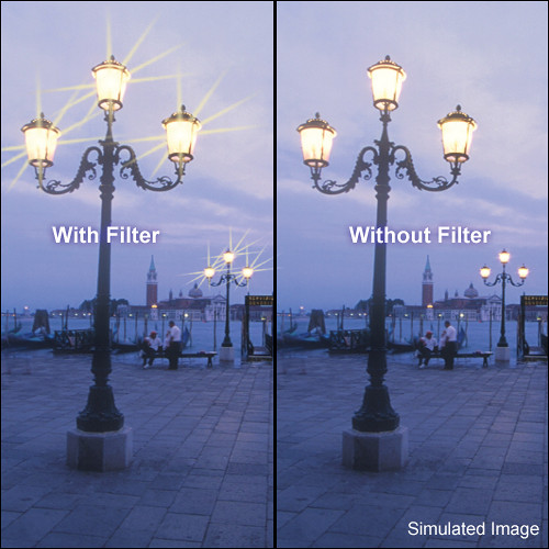 """Tiffen 5.65 x 5.65"""" Vector Star Effect Glass Filter"""