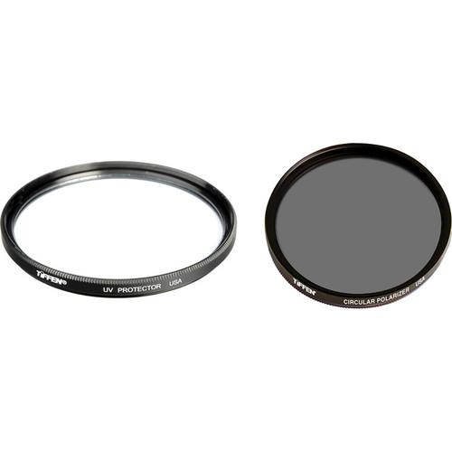 Tiffen 77mm UV Protector and Circular Polarizing Filters Twin Pack