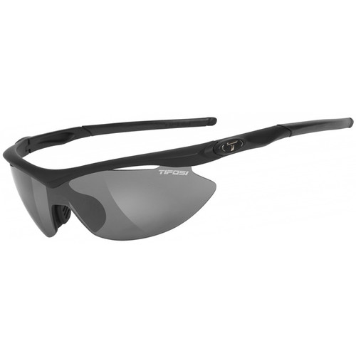 Tifosi Slip Interchangeable Sunglasses (Matte Black Frames / Clear, Smoke & AC Red Lenses)