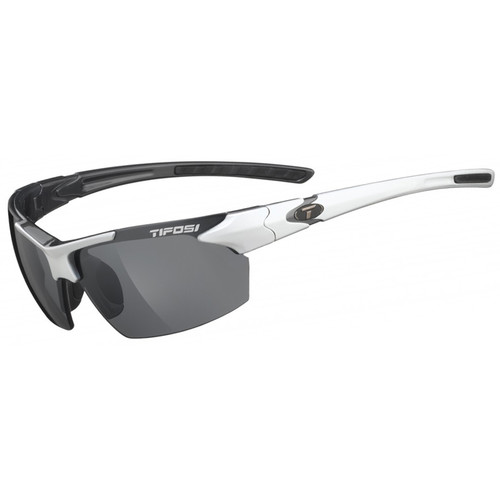 Tifosi Jet Sunglasses (White & Gunmetal Frames, Smoke Lenses)