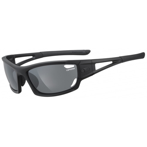 Tifosi Dolomite 2.0 Sunglasses (Gloss Black Frame - AC Red, Clear, and Smoke Gray)