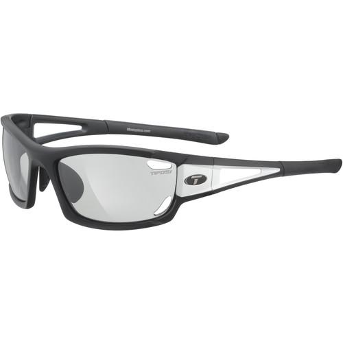 Tifosi Dolomite 2.0 Sunglasses (Black/White Frames/Fototec Light Night Lenses)